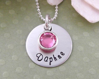 Hand Stamped Mommy Necklace- Mommy Jewelry- Personalized Mommy/Grandma/Children Jewelry