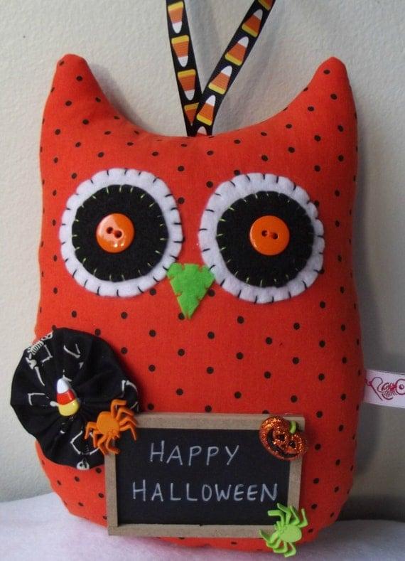 Halloween Door HangerHalloween by PigeonHouseHandmade on Etsy ~ 102409_Halloween Owl Door Hanger