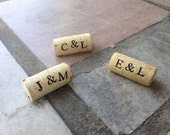 PERSONALIZED Wine Cork Place Card Holders - set of 25 - Weddings -Birthdays - Shower - Parties