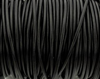 4MM Round Black Leather - 5M/5.46YD