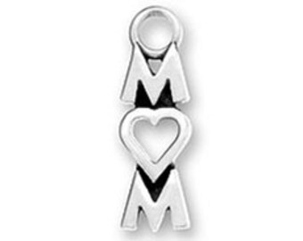 Mom Charm Sterling silver Heart Love for O -SP913