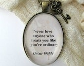 Oscar Wilde quote necklace, literary jewellery