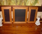 3 solid cedar 8X10 4X10 combo picture photo craft frame oak finish country rustic display