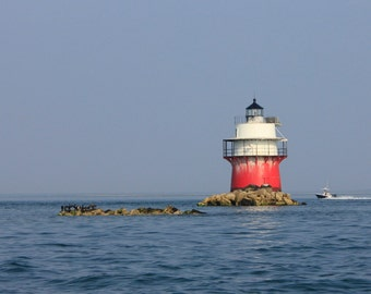 Bug Light, Plymouth Ma lighthouse, Plymouth Harbor, coastal fine art photography, nautical