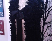 Ladies Hand Knitted Frilly Waistcoat Party , New Year , Christmas FREEPOST UK