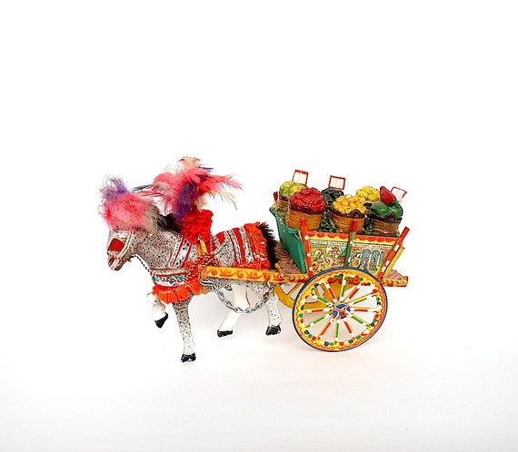 Horse & Cart Vintage Sicilian Carriage By HappyFortuneVintage