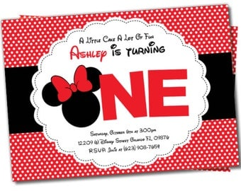 Minnie Mouse invitation, Minnie Mouse Party Package, Minnie Mouse invite, Minnie Invitation, Minnie Party, Minnie Mouse Party Package (M4)