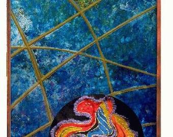 Kimono Coins, a wall fountain