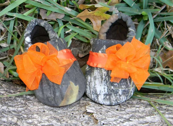 To dressy camo baby girl shoes orange fluffy bow baby slippers baby