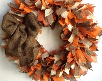 Fall Burlap Wreath, 4-Toned Wreath, Fall Wreath, Thanksgiving Wreath, Autumn Wreath