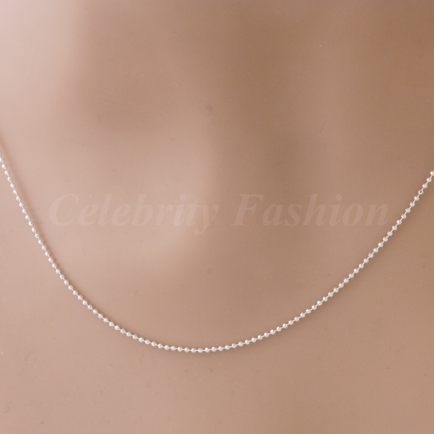 sterling silver cut bead chain with purchase of