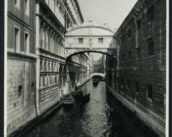 Venice Italy bridge of SIghs antique photo by Dawson