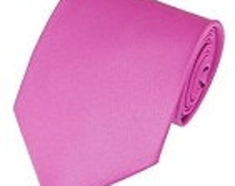 mens hot pink necktie custom made many colors