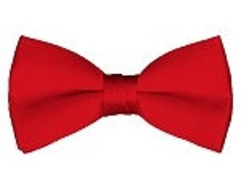 mens Bow tie (pre tied) Red custom made many colors