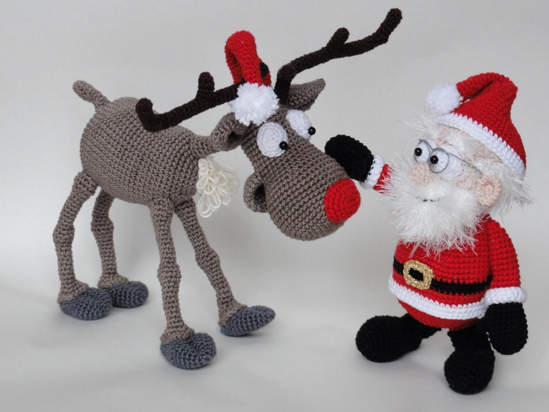 Amigurumi crochet pattern set santa claus and rudolf the amigurumi crochet pattern set santa claus and rudolf the reindeer english version bankloansurffo Choice Image