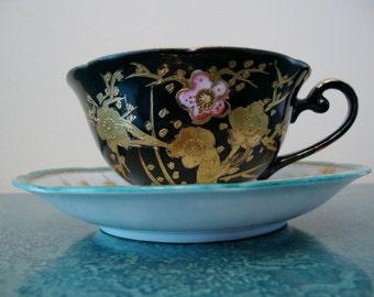 OHASHI Teacup and Saucer Black