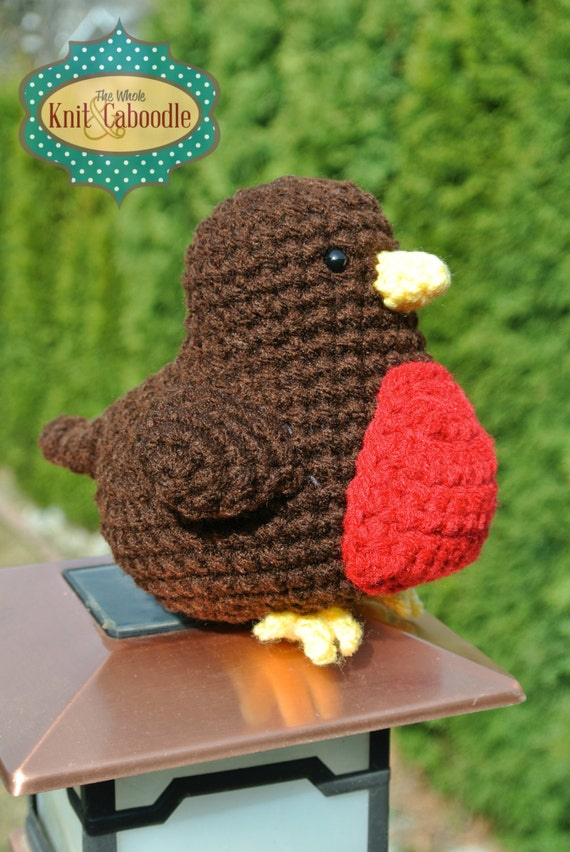 Amigurumi Crochet Patterns Free Doll : Springtime Robin PDF Crochet Pattern