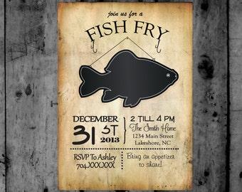 Fish Fry Invitation Printable Party Invitation
