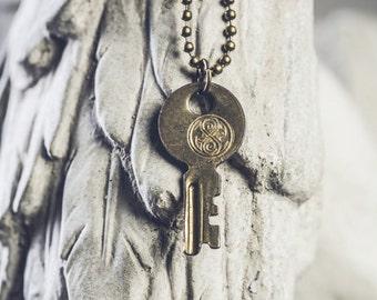 TARDIS Key // Doctor Who TARDIS Key Necklace // Designer Whovian Accessory // Seal of Rassilon