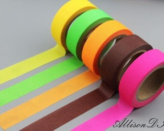 Washi Tape - Masking Tape - Japanese Washi - Deco Tape - Gift Wrap - Filofax - MTS039 - 5 roll