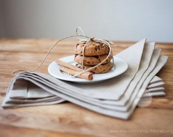 Set of 8 natural beige cotton napkins napkin cocktail napkin reusable cloth napkin holiday table dinner set 12x12 Inches napkins