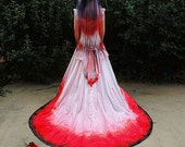 Vampire Costume Blood Drenched // Gothic Victorian Gown // Dracula Bride // Halloween Costume // Wedding dress