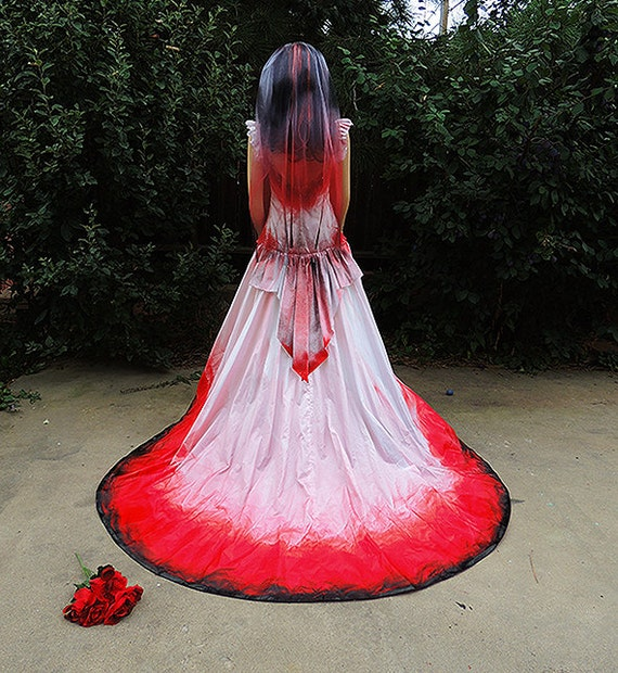 Halloween Wedding Dresses: Vampire Costume Blood Drenched // Gothic Victorian Gown