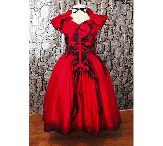 PLUS SIZE Blood Red Lydia Beetlejuice // Vampire // Dia de los