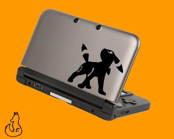 Umbreon Pokemon autocollant pour 3DS XL, 3DS