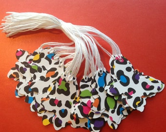 36 Die Cut Butterfly Gift / Merchandise Tags (818)