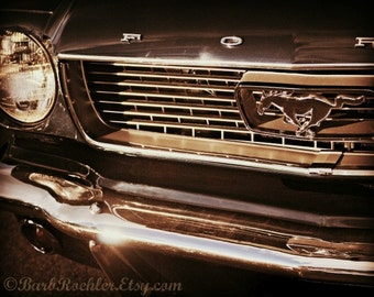 Vintage Mustang - Rustic Wall Art - Classic Car Art Prints - Retro Print - Vintage Car Photography - Garage Art - 8x10