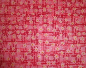 Pink and Yellow Print Fabric