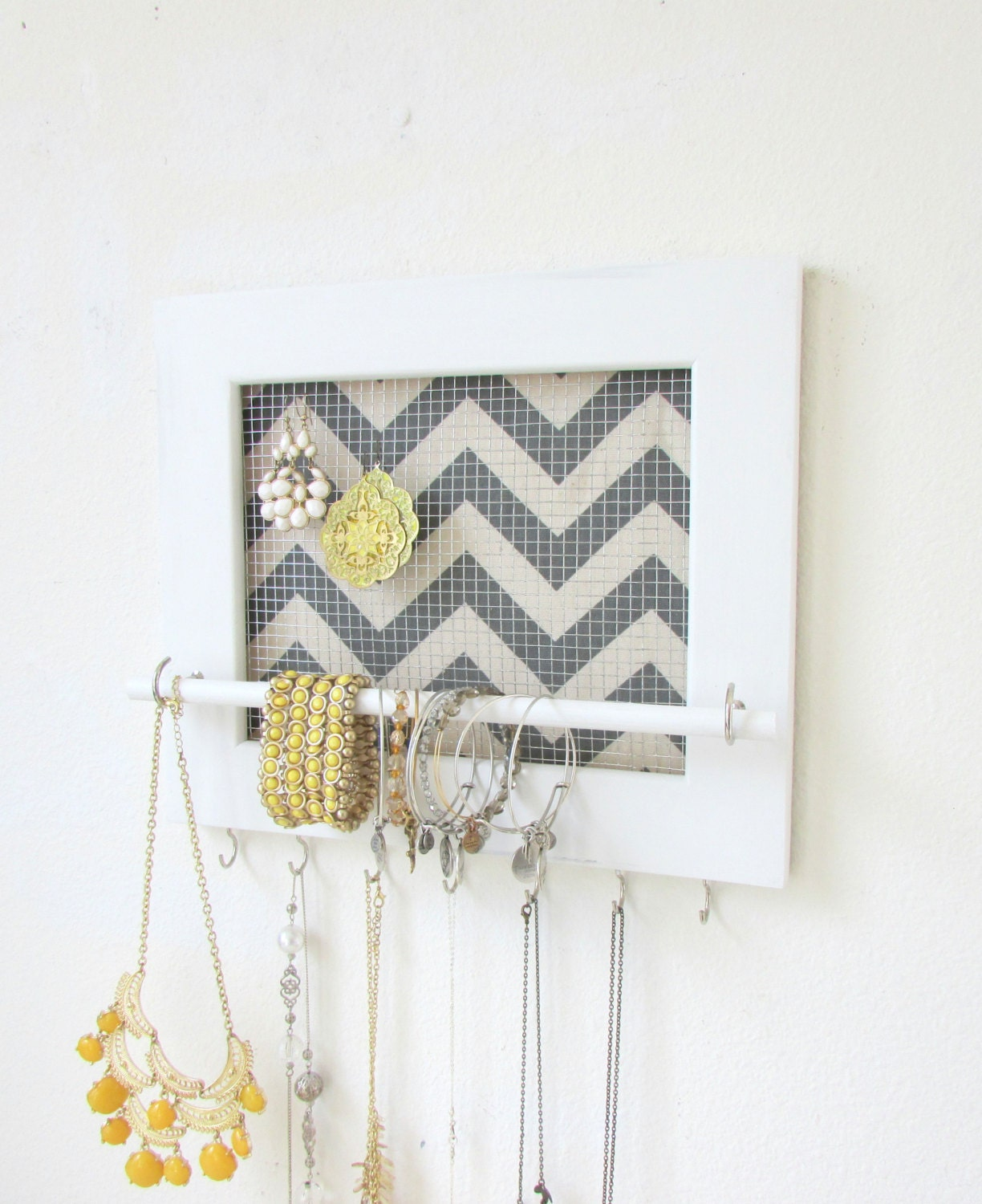 jewelry holder jewelry organizer chevron frame 7 by