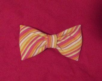Striped Hair Bow