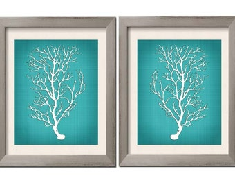Beach House Decor Teal Wall Art Teal Art Teal White Teal Sea