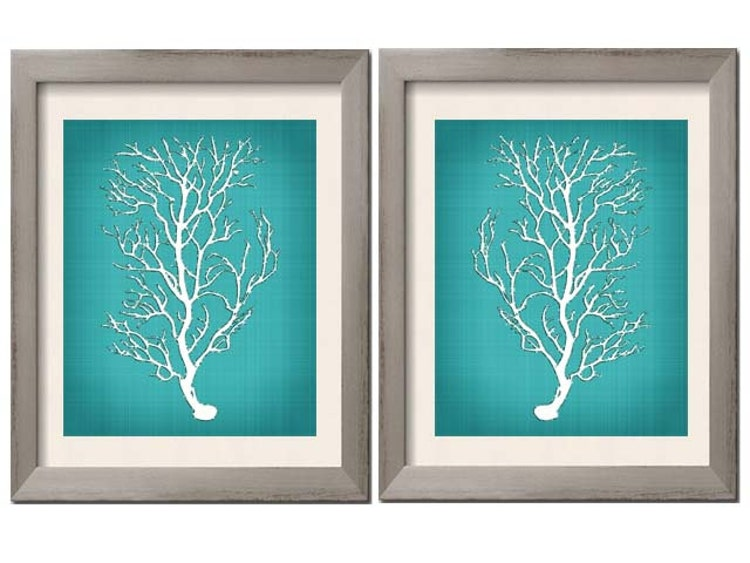Beach House Decor Teal Wall Art Teal Art Teal By