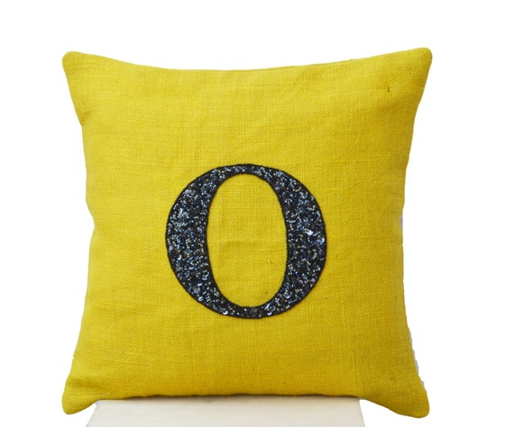 Items Similar To Monogram Pillow, Burlap Pillows