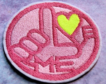Skip Beat Love Me Pink Heart Iron On Embroidery Patch MTCoffinz