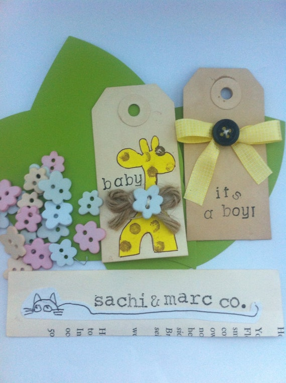 baby shower gift tags baby shower favors baby giraffe yellow