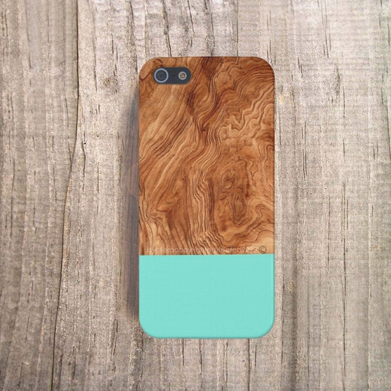 Mint Phone Case Wood Print, iPhone5 Case Mint Wood Print, iPhone 4 Case Wood Print, Mint iPhone 5S Case, Wood Print Samsung Galaxy S4 Case