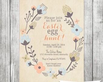 Elegant Easter Egg Hunt Invite - 5x7 JPG