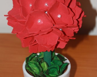 Small Topiary tree of roses made in Foam, 100% hand made