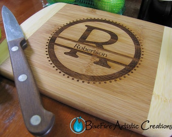 Personalized Bar Board, Small Personalized Bamboo Cutting Board, Engraved Bamboo Cutting Board
