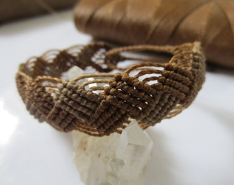 Brown Macrame Friendship Bracelet Handmade surf wristband