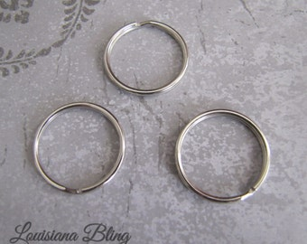20 Pieces Large Split Ring or Key Ring 30mm Silver Finish, key ring, keyring, 19-12-20
