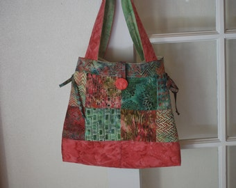 Tropical Bali Quilted Adjustable Bag