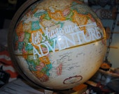 DECAL Only {Lets Have An Adventure} Decal for Globe or wall ****DECAL ONLY