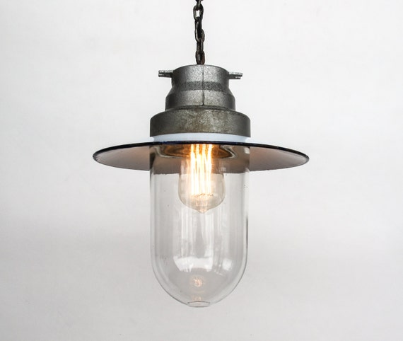 Vintage Industrial Ceiling Lamp Light Fixture Enamel