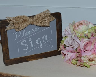 wedding Chalkboard, wood chalkboard, rustic wedding chalk board sign