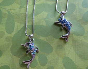Dolphin crystal pendent